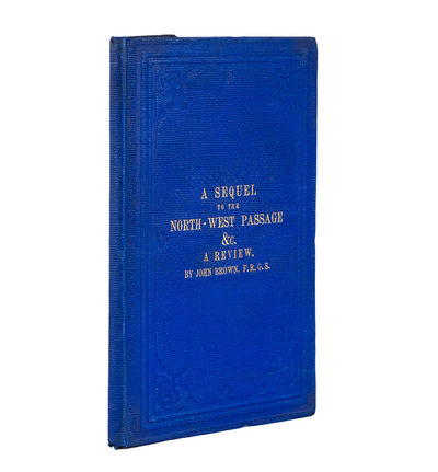 London: E. Stanford, 1860. 8vo. , 3, , 62, pp. Map and folding plate. Publisher's blue cloth, covers...
