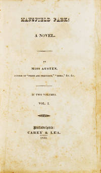 Mansfield Park. A Novel. By Miss Austen ..