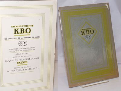 Paris: KBO, 1921. Pamphlet. Unpaginated, about 30p., coated alkaline paperstock with profuse b&w sit...