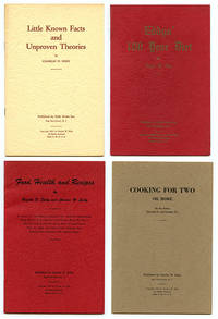 image of Four Eddy Diet Pamphlets: Food, Health, and Recipes; Cooking for Two or More; Little Known Facts and Unproven Theories; Eddys' 100 Year Diet