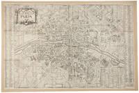 [18th century map of Paris] Nouveau Plan Routier de la Ville et Faubourgs de Paris