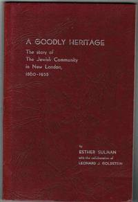 image of A Goodly Heritage:  The Story of the Jewish Community of New London,  1860-1955