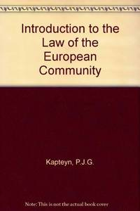 Introduction to the Law of the European Community
