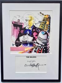 William Hartnell Autograph Doctor Who Framed Artwork Signed Christos Archilleos Target The Daleks