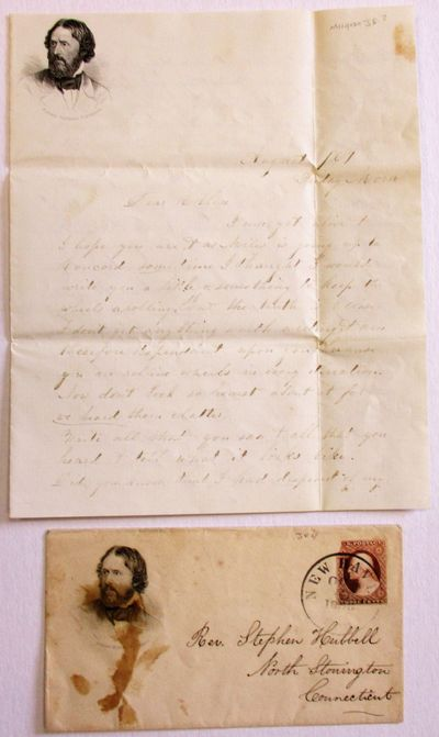 : Putnam Brothers, 1856. pp letter, with portrait of Fremont in the upper left corner of the first p...