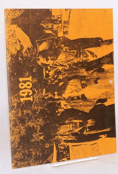 Oakland: International Friendship House, 1980. 11x8.5 inch hanging wall calendar (11x17 inches when ...