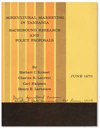 Agricultural Marketing in Tanzania: Background Research and Policy Proposals