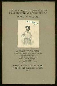 [Auction catalog] Manuscripts, Autograph Letters, First Editions and Portraits of Walt Whitman