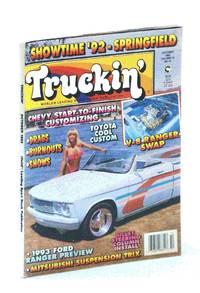 Truckin' Magazine, October [Oct.] 1992: Cover Photo of Cassandra Preston and Jason Stephens' '77 Chevy LUV