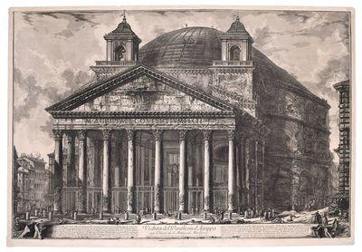 Veduta del Pantheon d'Agrippa oggi...