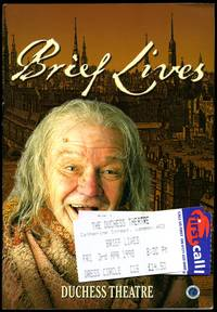 Brief Lives: Souvenir Theatre Programme Performed at The Duchess Theatre, Catherine Street, London + Tickets (3rd April 1998)