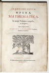 """View Image 2 of 3 for COLLECTED WORKS OF FRANÇOIS VIÈTE""""THE FATHER OF ALGEBRA"""" WITH 3 VOLVELLESFrancisci Vietae Oper... Inventory #5430"""