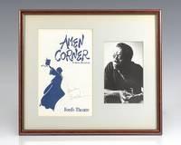 James Baldwin Signed Program. Amen Corner.