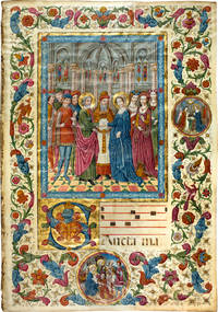 Illuminated leaf of The Marriage of the Virgin