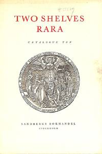 Catalogue 10/1955: Two shelves rara.