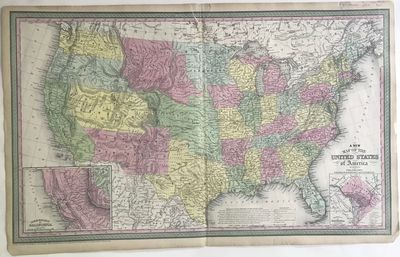 Philadelphia, : Published by Cowperthwait, Desilver & Butler, 1850. Map, 43.5 x 69 cm. Image size 40...