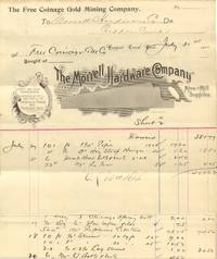 Free Coinage Gold Mining Company Documents from Cripple Creek, Colorado