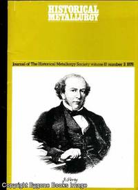 Journal of the Historical Metallurgy Society Vol 10 Number 2 1976