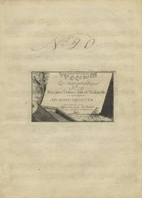 Quatuor periodique No. IX Pour deux Violon Alto et Violoncello... Prix 4. [Parts]