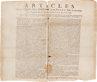 ARTICLES OF THE UNION FIRE COMPANY, IN THE TOWN OF ST. JOHN, IN ANTIGUA. THE THIRTEENTH DAY OF SEPTEMBER, IN THE YEAR OF OUR LORD 1756 [caption title]