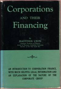 Corporations and their Financing