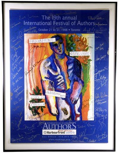 1998. Promotional poster for the annual Toronto literary festival, which each year since 1980 brough...
