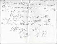 Signed: Gordon Onslow-Ford Letter, September 12th, 1990