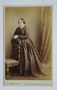 Carte De Visite Photograph: Studio Portrait of an Unknown Lady Beside a Chair.