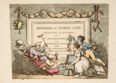 London: R. Ackermann, 1808. Complete with the Rare 'Pall Mall' Plate ROWLANDSON, Thomas. Miseries of...