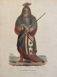 [NATIVE AMERICAN PORTRAIT]. Wa-Na-Ta. The Charger, Grand Chief of the Sioux. Hand-colored lithograph from a folio edition of McKenney and Hall's Indian Tribes of North America