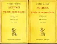 Actions et paroles mémorables (2 VOLUMES)