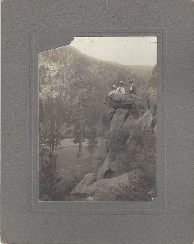 , 1900. Large format gelatin silver photograph on a plain gray mount view chipped at upper left corn...