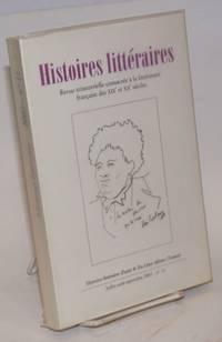 image of Histoires littéraires: revue trimestrielle consacrée à la littérature française des XIXe et Xxe siècles. No. 11