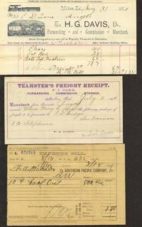 Freight Archive from Milton, California 1890s