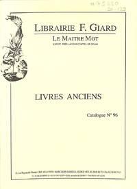 Catalogue 96/(2000) : Varia, Régionalisme, Histoire, Histoire De L'art,  Peinture, Catalogue, Revues Scientifiques.