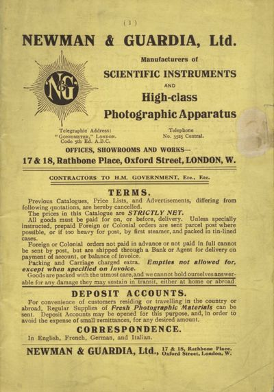 London: Newman & Guardia, 1912. 8vo., 24 pp., illustrations. Paper wrappers, stapled, which are ligh...