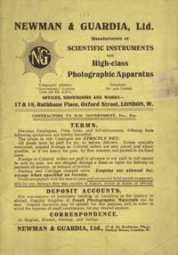 NEWMAN & GUARDIA, LTD.: MANUFACTURERS OF SCIENTIFIC INSTRUMENTS AND HIGH-CLASS PHOTOGRAPHIC APPARATUS.; [cover title]