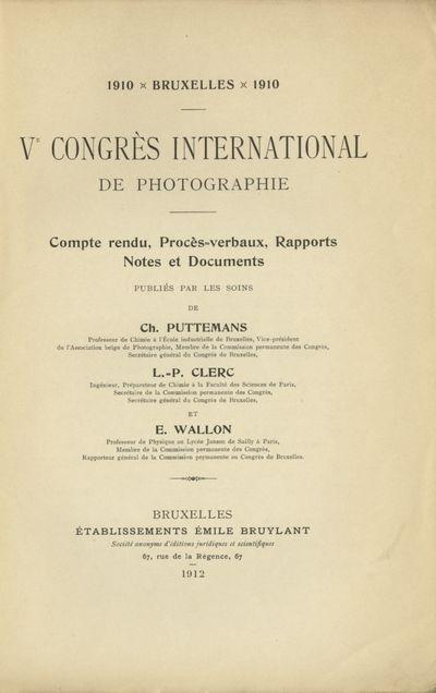 Bruxelles: Éstablissements Émile Bruylant, 1912. First edition. Small 4to., , 506 pp., b&w illustr...