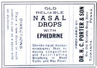image of Lot of Twelve Antique Nasal Drop Labels with Ephedrine