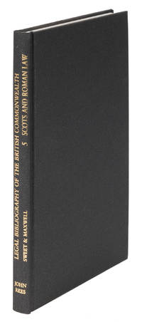 Sweet and Maxwell's Legal Bibliogarphy. Vol 5. Scottish Law to 1956
