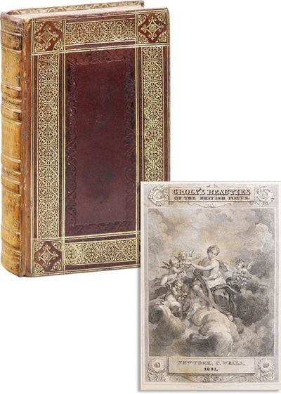 New-York: C. Wells, 1831. First American Edition. 12mo (18cm.); contemporary reddish-brown elaborate...
