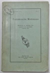 image of READING LIST ON PAPERMAKING MATERIALS.