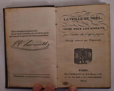Paris: Chez Levrault, 1835. Hardcover. VG- light overall wear and rubbing boards. Black textured boa...