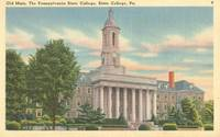 Old main, The Pennsylvania State College, State College, Pa unused linen Postcard