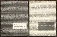 Black bibliography [together with 1972 supplement]