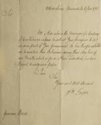 image of Autograph Letter, Signed, to Governor Ward