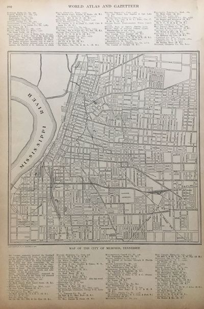 ABAA | Map of the City of Memphis, Tennessee by COLLIER ...