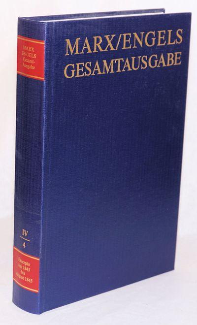 Berlin: Dietz Verlag, 1988. Hardcover. 54, 542p., elegant 9.5x6.5 inch hardbound in blue cloth board...