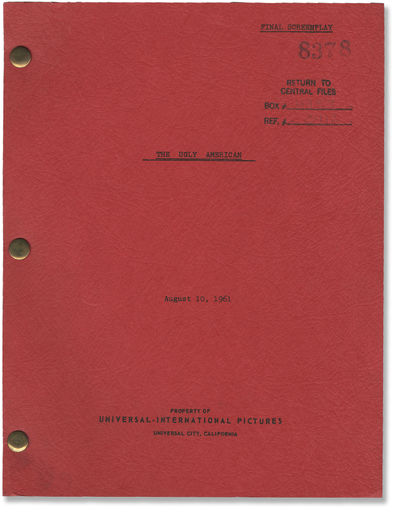 Universal City, CA: Unviersal International Pictures, 1963. Revised Final Draft script for the 1963 ...