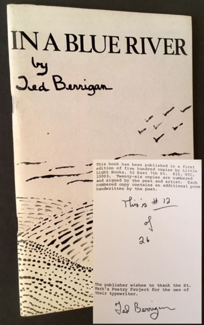 New York: Little Light Books, 1981. Original wraps. Near Fine. One of Ted Berrigan's scarcest limita...